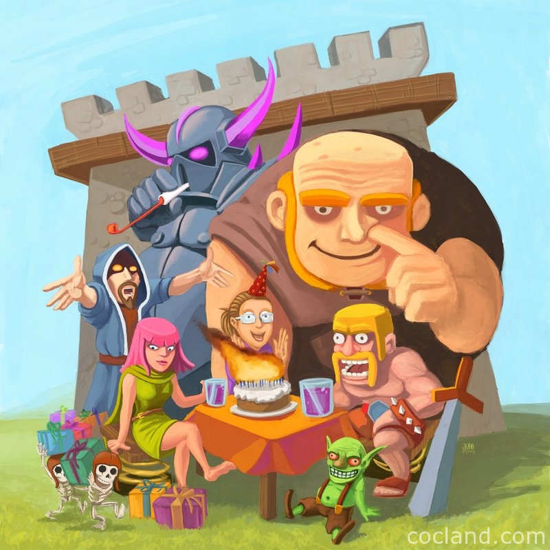 Play clash of clans on pc with bluestacks
