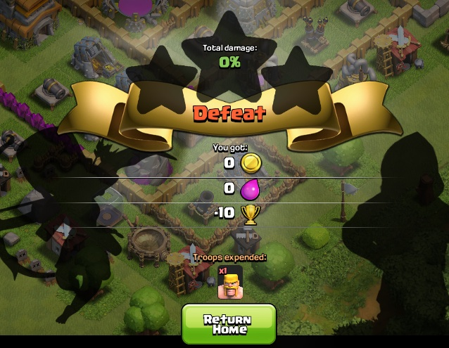Drop trophies for farming in Clash of Clans