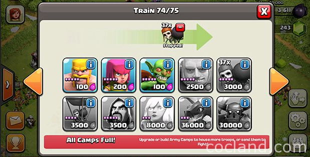 Overtraining Tip for Clash of Clans