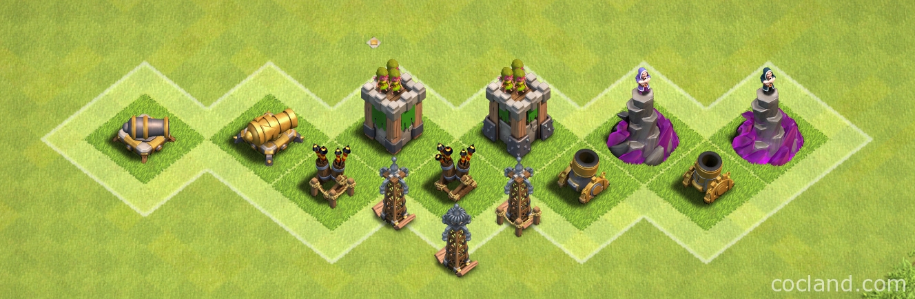 clash of clans buildings