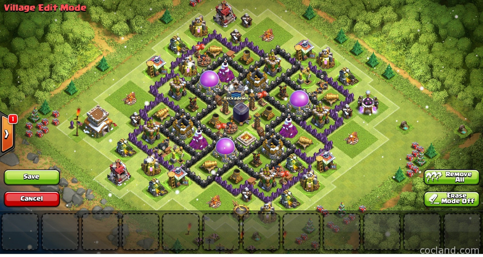 Best town hall 8 farming base 4 mortars terkuat best town hall 8