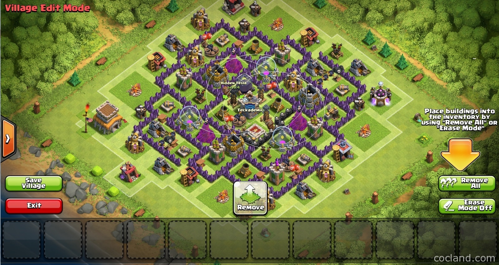 The nerd farming base for town hall 8 clash of clans land