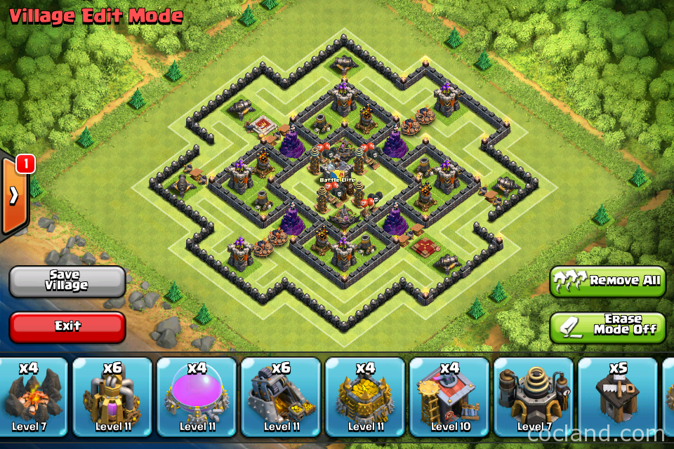 Level 9 town hall trophy base the strategist town hall 9 trophy base