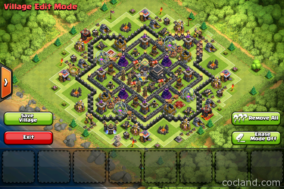 The strategist town hall 9 trophy base 4 clash of clans land