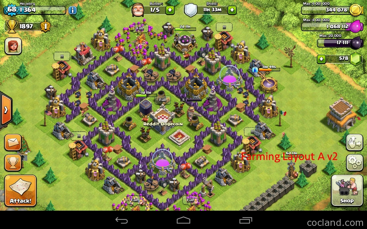 The mantis best base layout for town hall 7 clash of clans