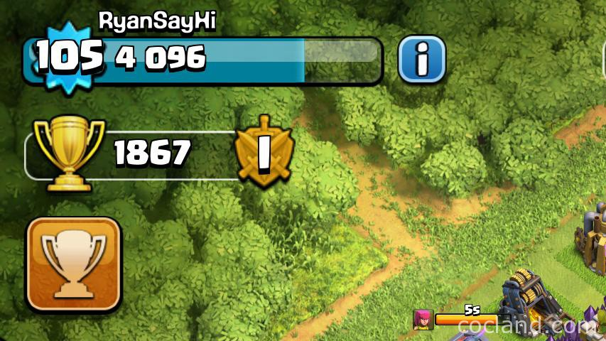 Clash of Clans Level and Experience