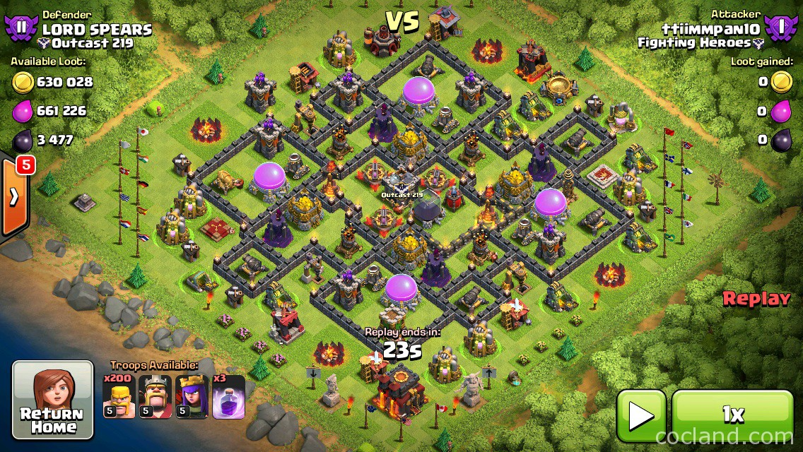 Clash of Clans Town Hall 7 Defense CoC TH7 BEST Trophy Base Layout Defense Strategy