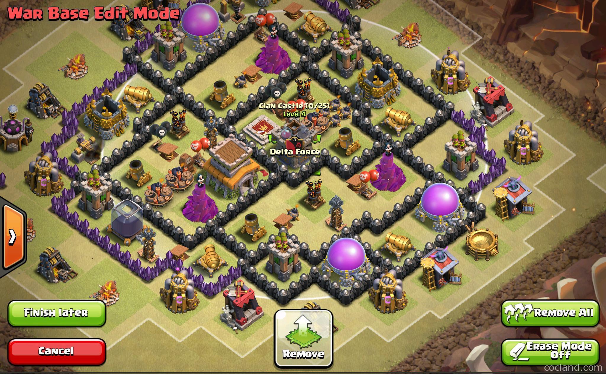 Th8 War Base Tips