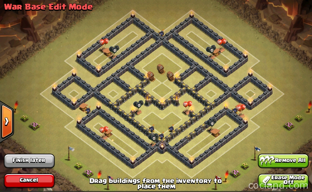 The multi square war base for th10 clash of clans land