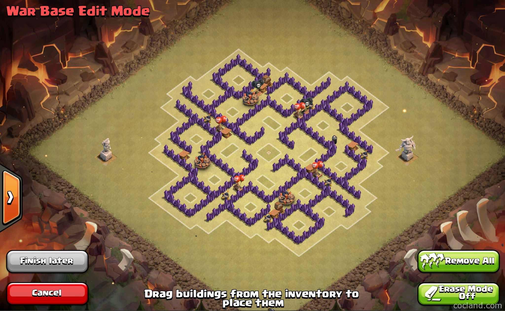 how to build a good clan war base