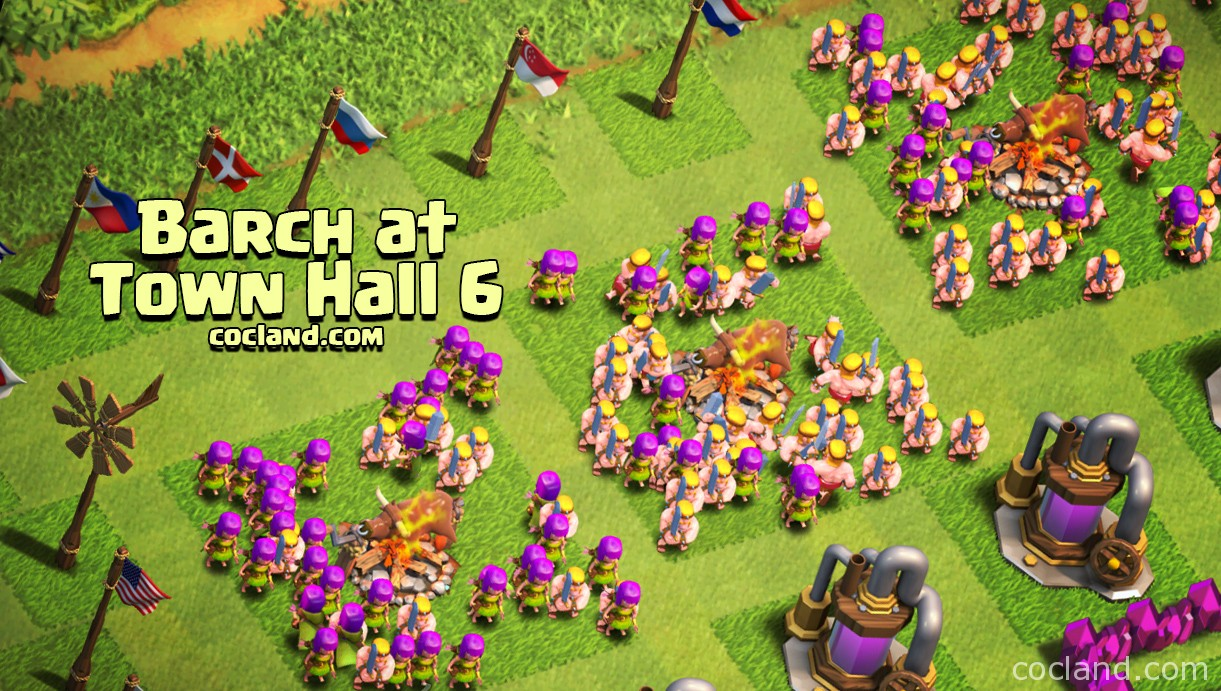 Farming with Barch at Town Hall 6