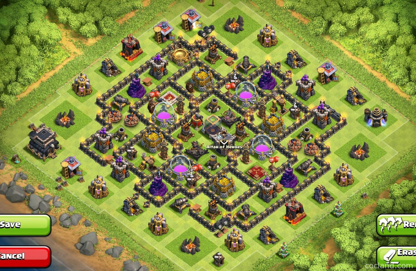 Coc best th9 farming base apps directories