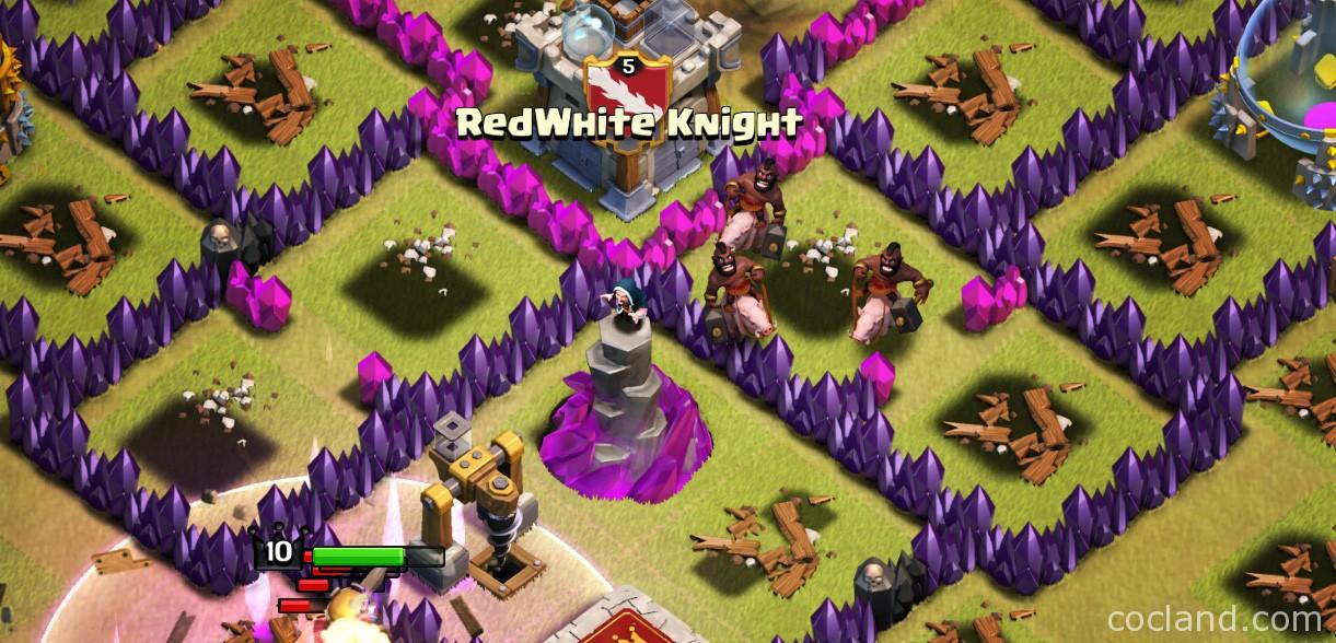 A Clan War Attack with Hog