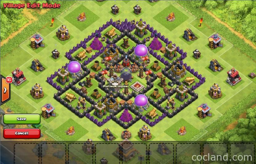 Mad turtle th8 de farming base war version clash of clans land