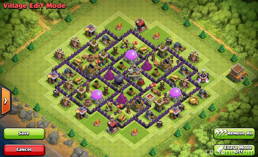 Oregon 13 farming base for town hall 8 clash of clans land