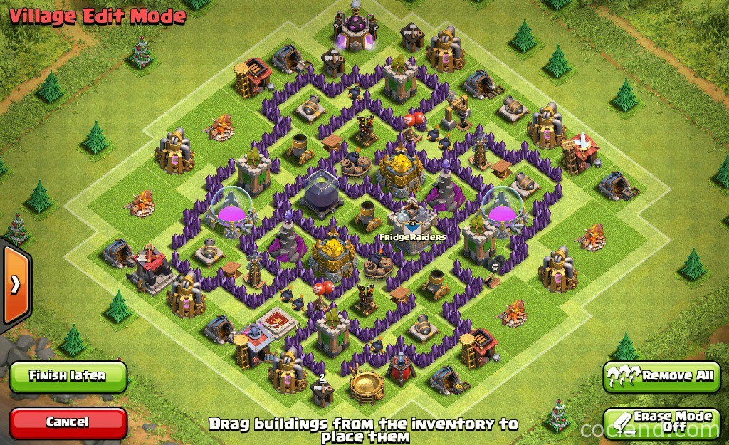 Discindo labyrinth farming base for town hall 7 clash of clans
