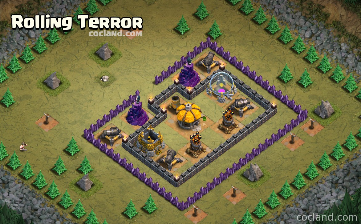 Rolling Terror Clash of Clans