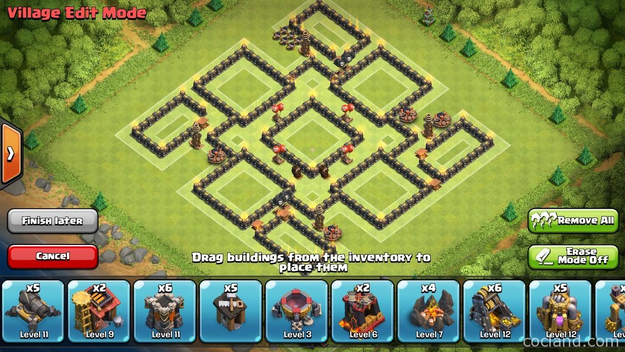 nine lives - marvelous th9 de protection base layout | clash of