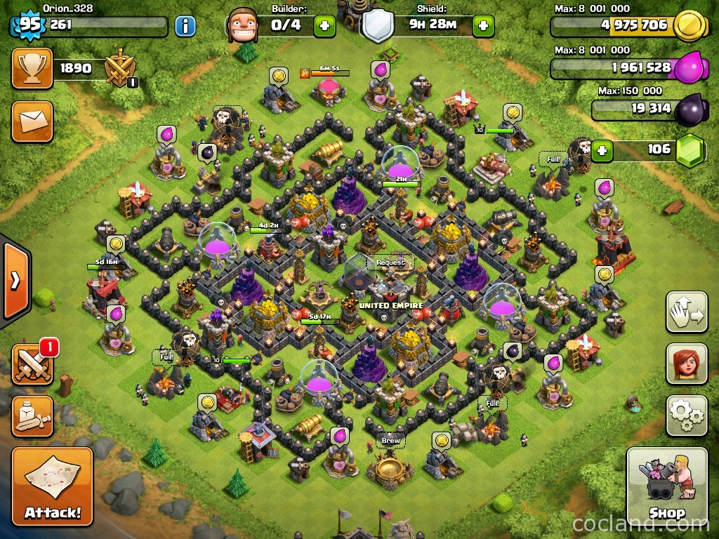 Soc resplendent farming base layout for town hall 9 clash of stream of consciousness 1 sciox Choice Image