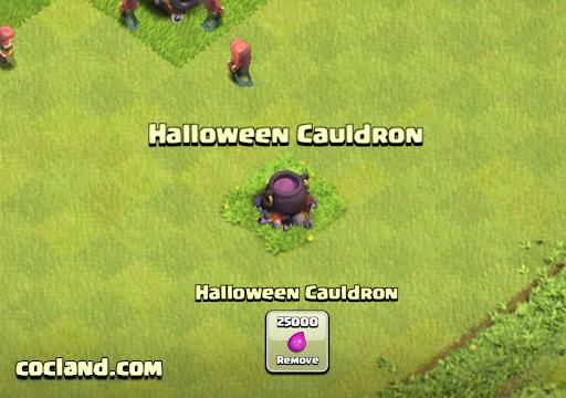 Clash of Clans Halloween Cauldron