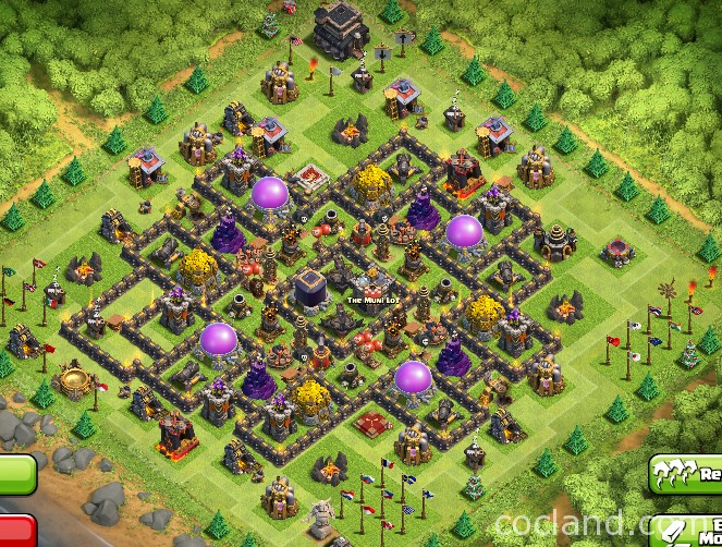 Virtuosic farming layout for town hall 9 clash of clans land