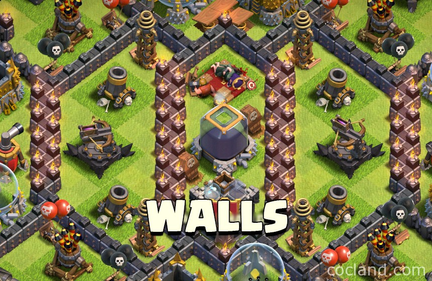 how to make a wall in clash of clans