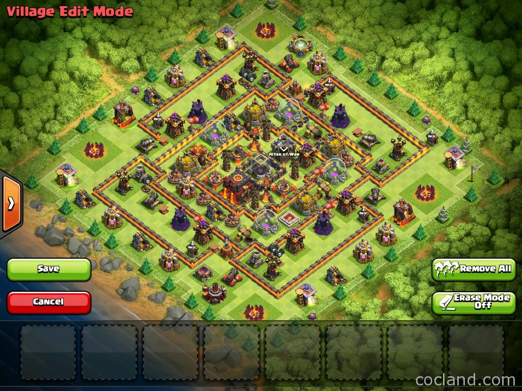 Clash of clans layouts for farming and clan wars