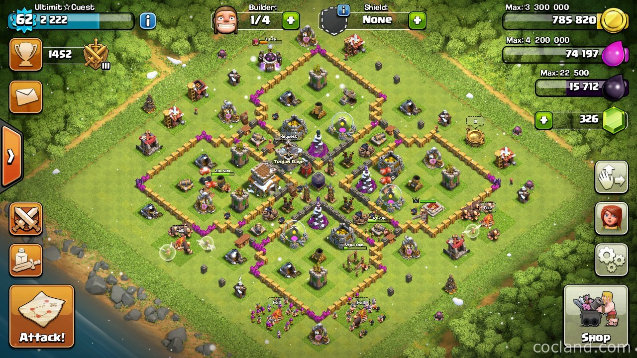 mario pipes layout for town hall 8 | clash of clans land