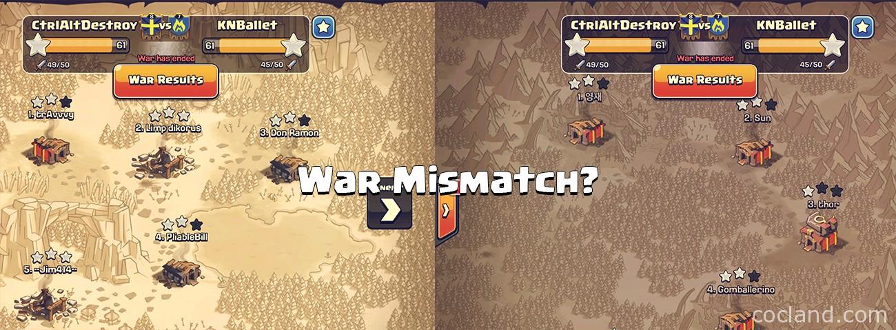 War Mismatch