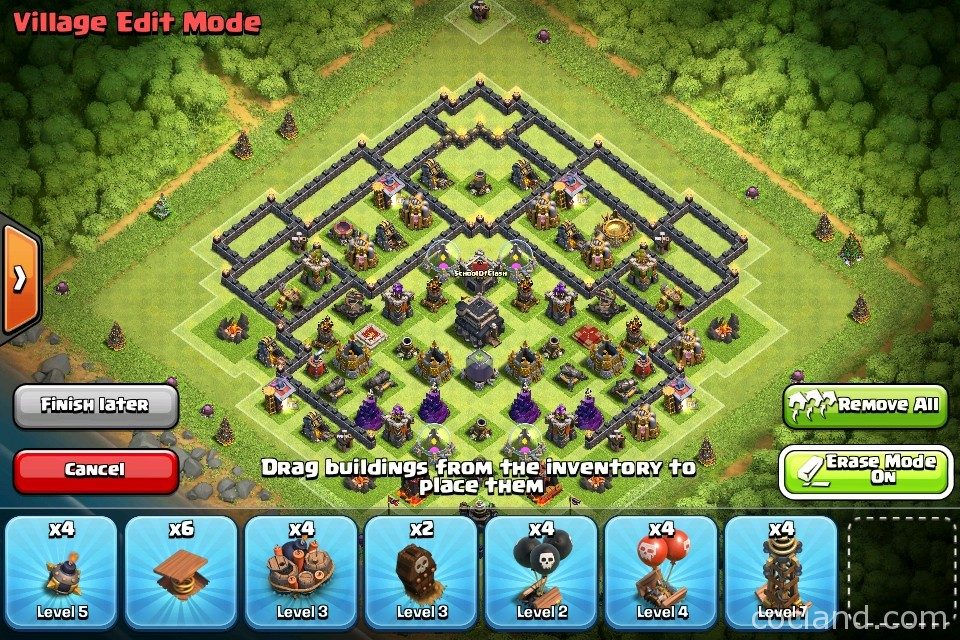 town hall 9 trophy base master th9 trophy base   push to master in 7