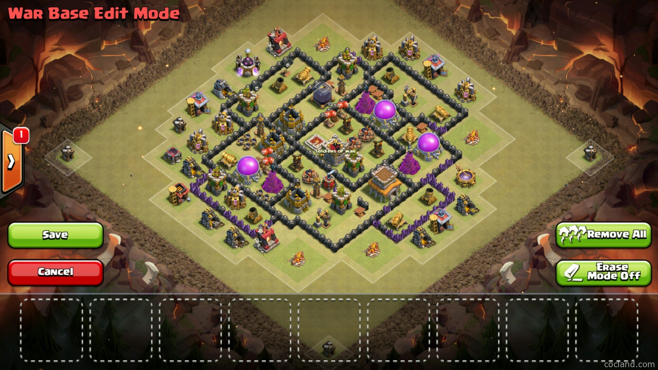 TH8 Base Clash of Clans