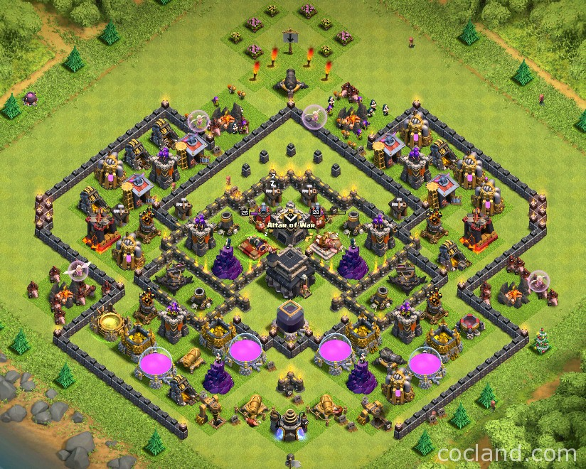 Push to champion within 3 days with this th9 trophy base