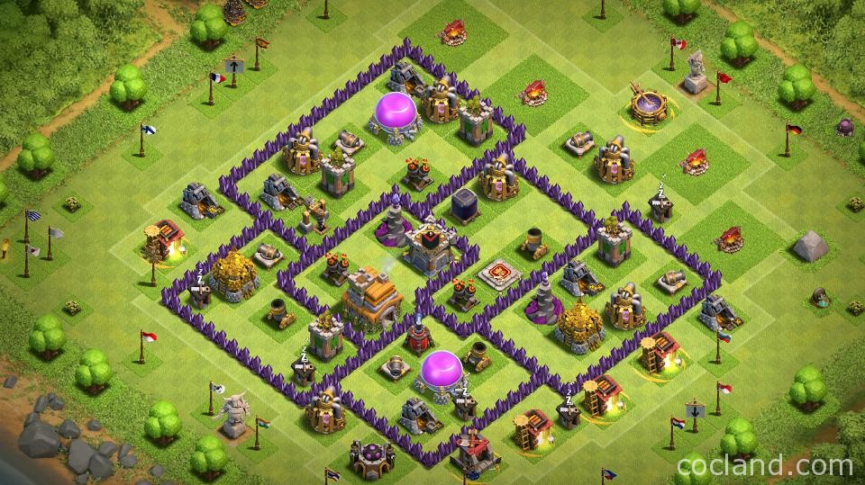 Town Hall 7 Hybrid Base | Clash of Clans Land