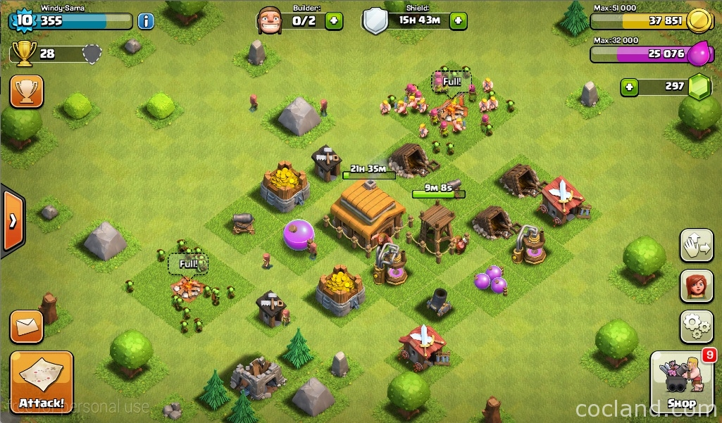 A village in Clash of Clans