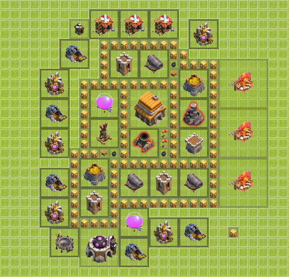 Coc Town Hall level 5 building example