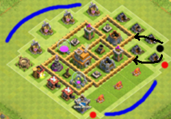 best defence town hall 5 clash of clans