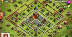 A town hall in Clash of Clans