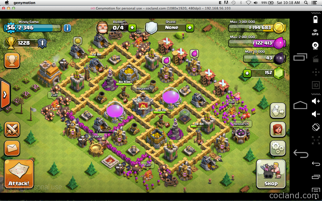 How to play Clash of Clans on Mac OS X with Genymotion