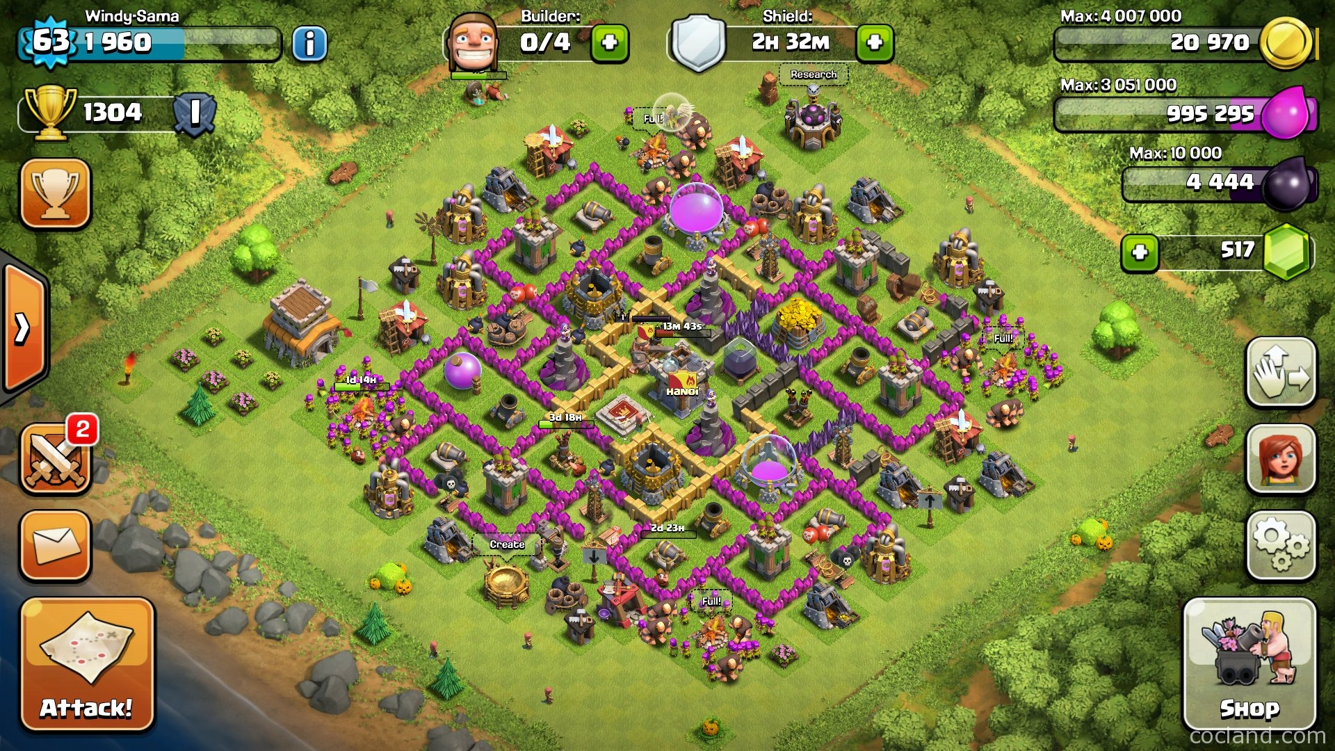 Clash of clans th8 base layouts search results web design