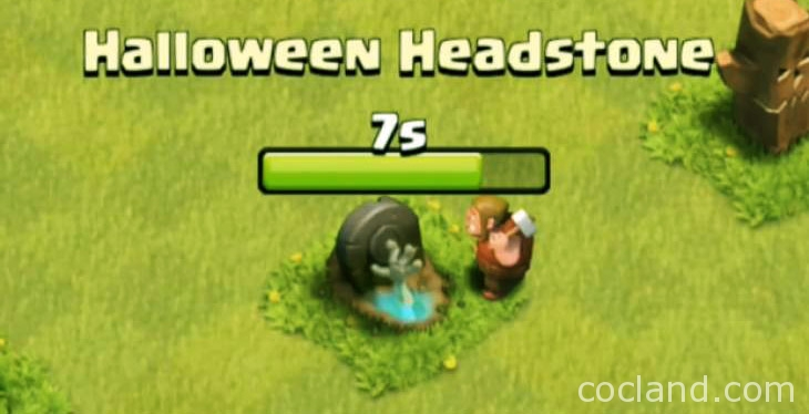 Removing Clash of Clans Halloween Headstone - CoCLand