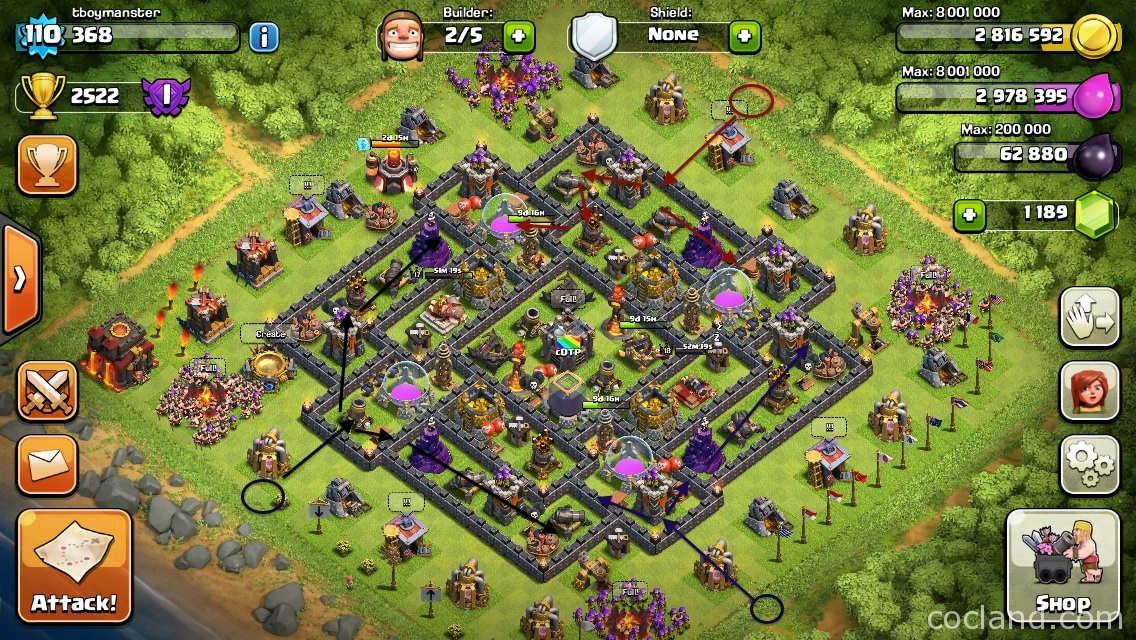 The Crown: Early Town Hall 10 Farming Base | CoC Land
