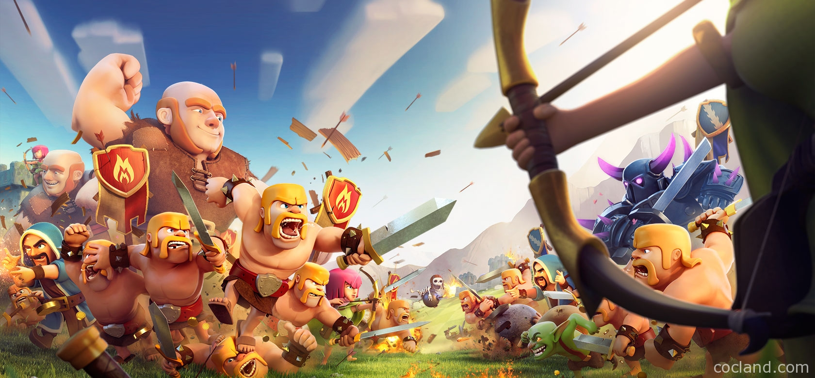 clash of clans hd wallpapers clash of clans land