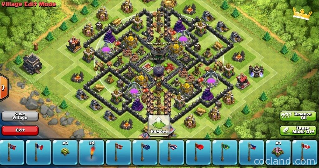 Charming Th9 Home Base Design Part - 5: Royal-river-perfect-town-hall-9-farming-base-