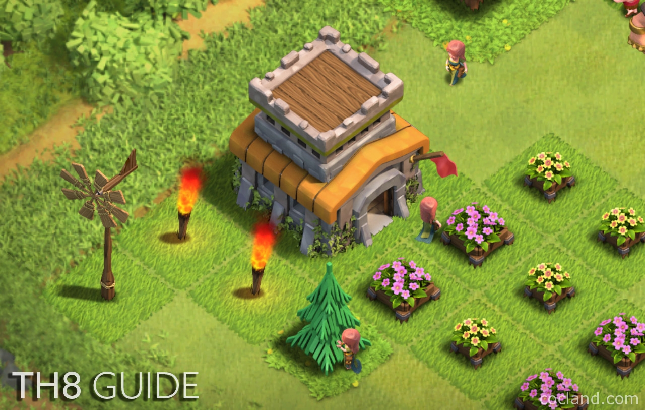 ultimate town hall 8 guide no grind no shine coc land