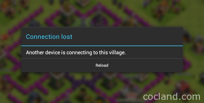 Another device is connecting to this village