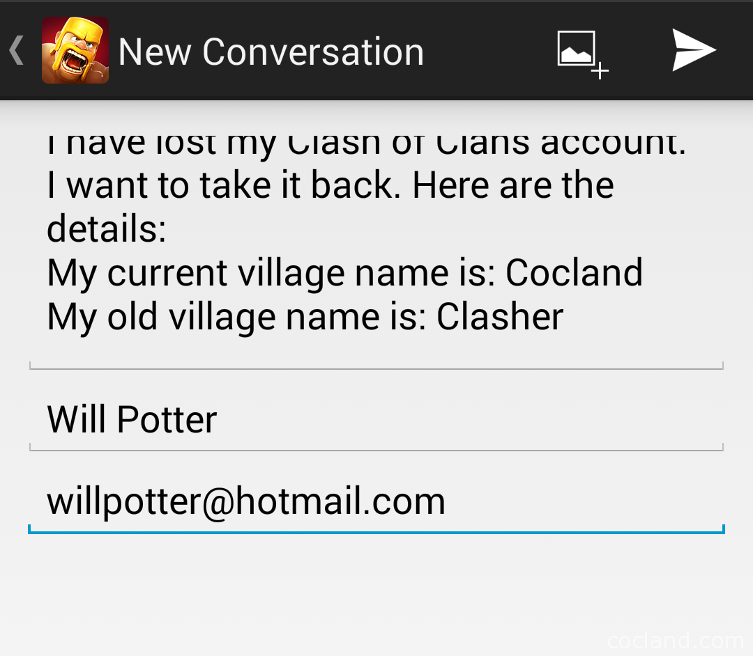 get lost Clash of Clans account back