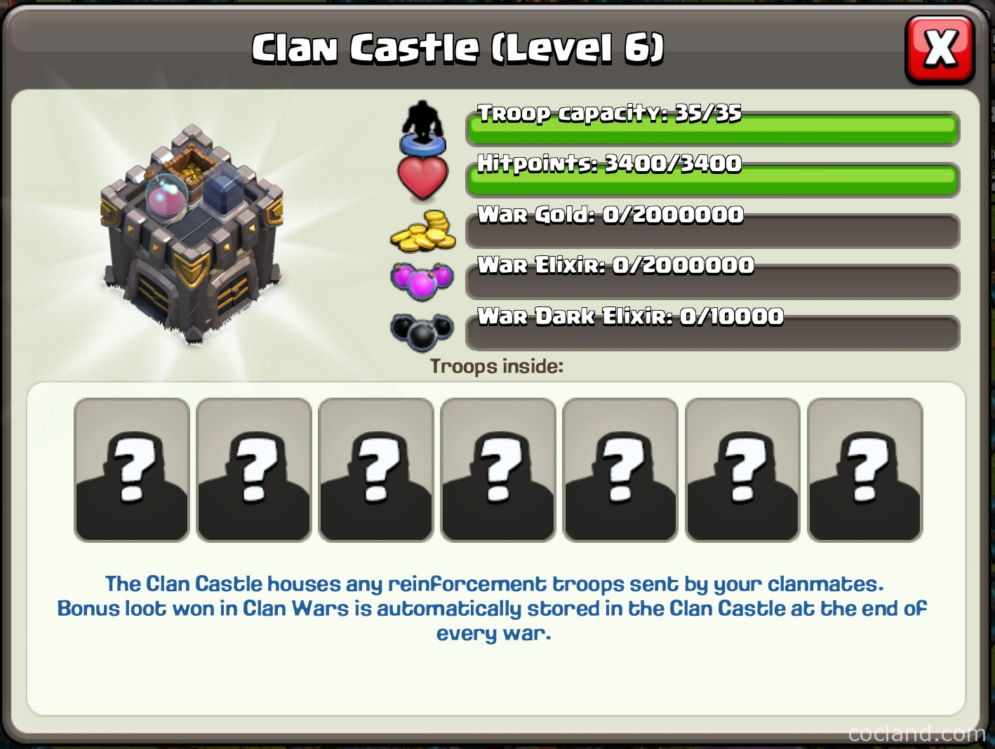 Best Troops for Clan Castle in War