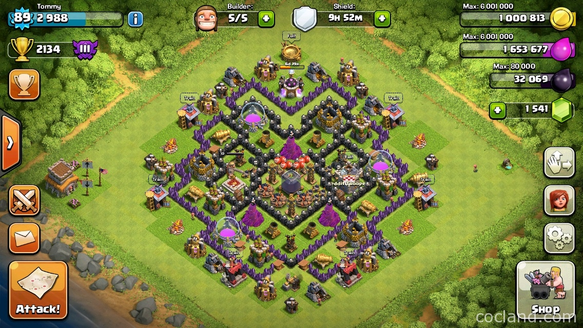 Dark Elixir Farming Base Layout for TH8