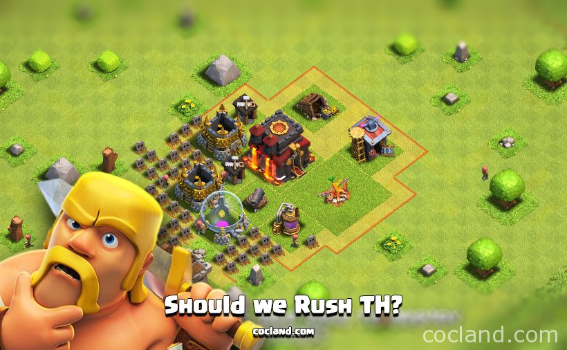 Rushing Town Hall in Clash of Clans