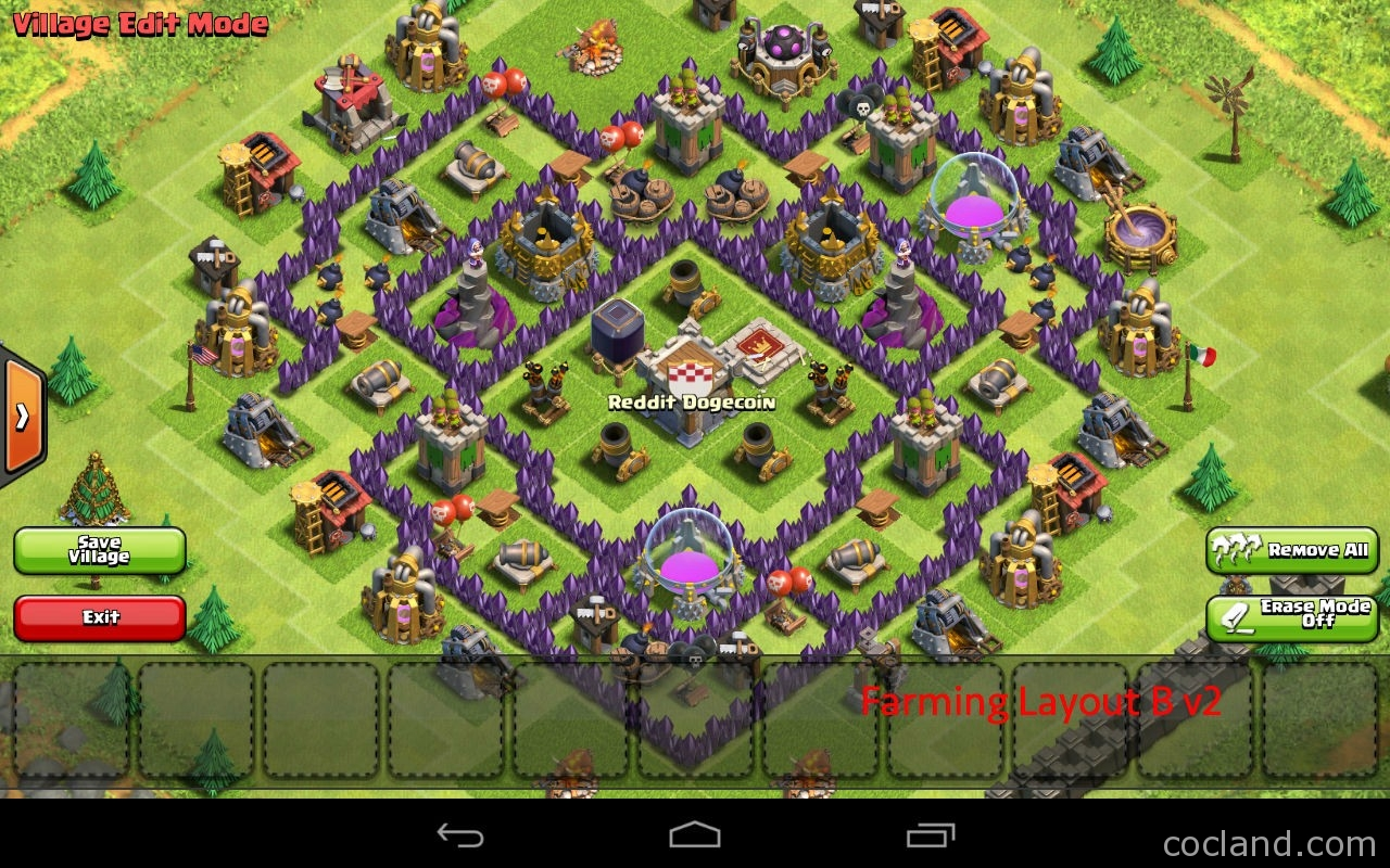 The Mantis: Best Base Layout for Town Hall 7 | Clash of Clans